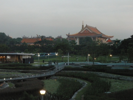 A large temple reminds locals of the importance of tradition as it overlooks one of the largest recreational areas in Singapore