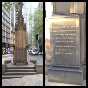 Sydney's first church service