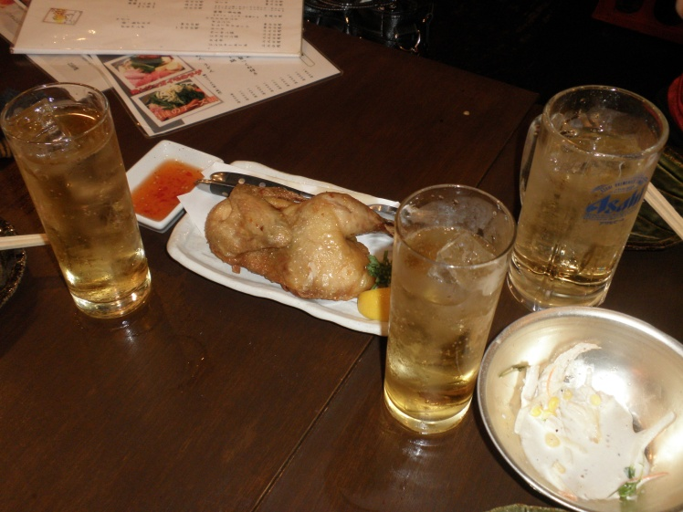 Barhopping in Shibuya: Not quite the Christmas turkey, but still the dish to reunite with friends over.